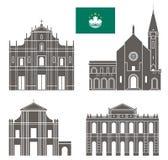 Macau. Set Royalty Free Stock Photo
