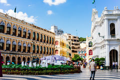 Macau Shopping Street Stock Photography