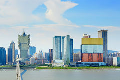 Macau skyline Royalty Free Stock Image