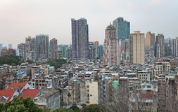 Macau skyline from Guia Fortress Stock Photo
