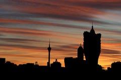 Macau Skyline At Sunset Royalty Free Stock Image