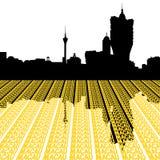 Macau Skyline with text vector illustration