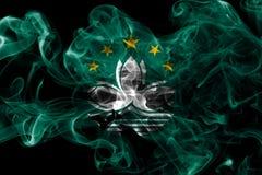 Macau smoke flag, dependent territory flag.  Stock Photography