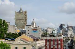 Macau-Stadt und blauer Himmel Stockfotografie