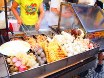 Macau Street Food Stall Royalty Free Stock Photography