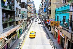 Macau Street View, Macau, China Royalty Free Stock Images