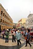 Macau Streets Royalty Free Stock Photo