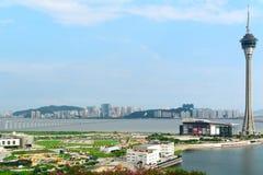 Macau Tower Convention and Sai Van bridge Stock Image