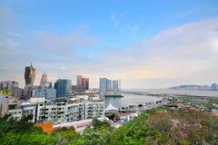Macau Tower Convention and Sai Van bridge Stock Images