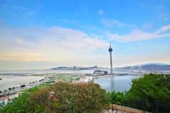 Macau Tower Convention and Sai Van bridge Royalty Free Stock Photos