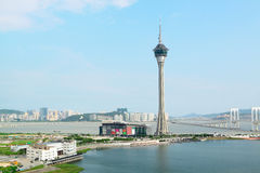 Macau Tower Convention and Sai Van bridge Stock Photos