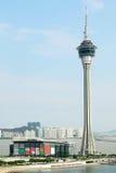 Macau Tower Convention and Sai Van bridge Royalty Free Stock Image