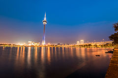 Macau tower, the famous landmark of Macau Stock Photo