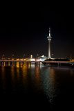 Macau Tower at night. Macau Tower Convention and Entertainment Centre Royalty Free Stock Photo