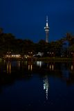 Macau Tower at night. Macau Tower Convention and Entertainment Centre Royalty Free Stock Image
