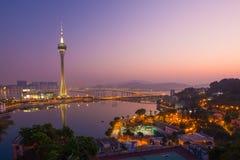 Macau Tower. Night Scene at Macau Tower Stock Images