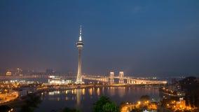 Macau Tower. Night view city light Royalty Free Stock Photo