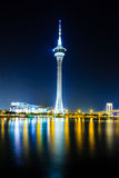 Macau tower at night Stock Image