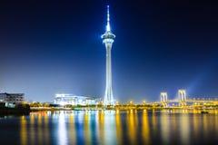 Macau tower at night Stock Photo