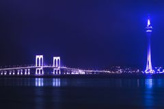 Macau Tower and Sai Van Bridge. Royalty Free Stock Photos