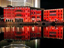 Macau Venetian buildings night views royalty free stock photography
