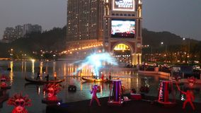 Macau : The Venetian Carnevale 2014 stock video footage