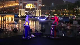 Macau : The Venetian Carnevale 2014 stock footage