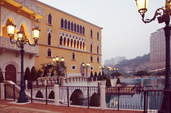 Macau Venetian casino Doge's Palace copy resort by evening Stock Photo