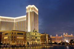 Macau : Venetian Hotel & Galaxy Hotel Royalty Free Stock Photo
