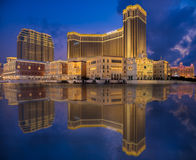 Macau Venetian & Sunset Royalty Free Stock Photography