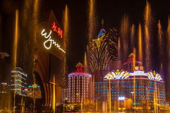 Macau Water Fountain Stock Image