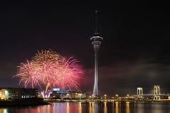 Macauinternational-Feuerwerke lizenzfreie stockfotografie