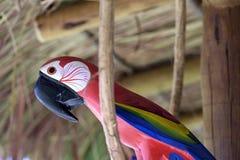 Macaw που χαράζεται στην ξύλινη, βραζιλιάνα τέχνη Στοκ Εικόνες