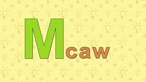 Macaw Alfabeto inglés del PARQUE ZOOLÓGICO - letra M libre illustration