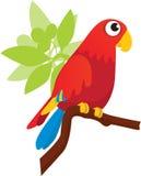 Macaw de Greenwing stock de ilustración