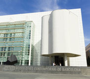 MACBA Museum in Barcelona, Spain. Stock Images