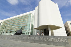 MACBA Museum in Barcelona, Spain. Stock Photography