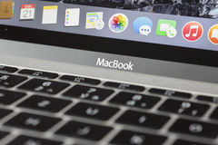 Free MacBook 12   Silver 1st Gen Stock Photos - 56345113
