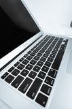 Macbook Air is isolated in white royalty free stock photo