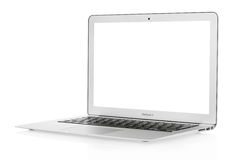 Macbook Air 13. Laptop isolated on white, clipping path included Royalty Free Stock Images