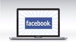 macbook facebook профессиональное Стоковая Фотография