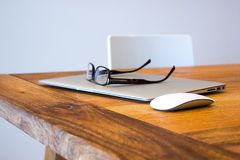 Macbook, Notebook, Home Office Royalty Free Stock Images