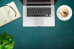 Macbook. Phone mac hipster laptop wood desk Stock Photo