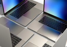 MacBook Pro-ArtLaptop-Computer, Zusammensetzung stockfoto