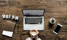 Macbook Pro On Desk Royalty Free Stock Photos