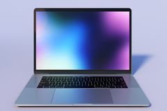 MacBook Pro 15 inch style laptop computer, front view stock image