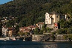 Maccagno comune at Lago Maggiore Royalty Free Stock Photo