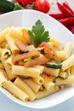 Maccaroni whit seafish eggs bottarga Royalty Free Stock Images