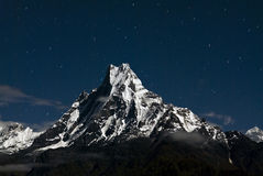 Macchapucchare Peak at night,Nepal Stock Images