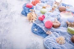 Maccherone assortito dei biscotti di mandorla Fotografia Stock